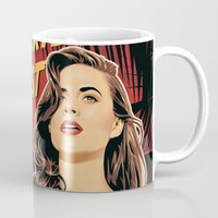 peggy carter Mugs featuring Peggy Carter Goes West by Arne AKA Ratscape