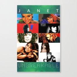 Janet Jackson Unbreakable Canvas Print