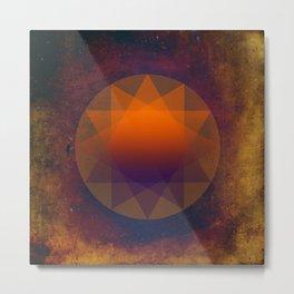Merkaba, Abstract Geometric Shapes Metal Print