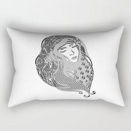zentangle portrait 5 Rectangular Pillow