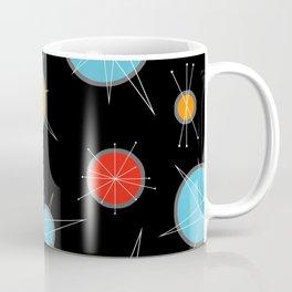 Atomic Age Colorful Planets Dark Coffee Mug