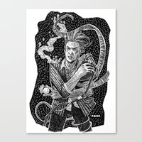 david bowie Canvas Prints featuring David Bowie  by Ryan Barr