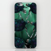 sea turtle iPhone & iPod Skins featuring Sea Turtle by Ben Geiger
