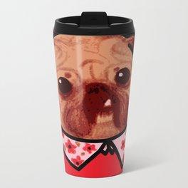 Toofy Pug  Metal Travel Mug