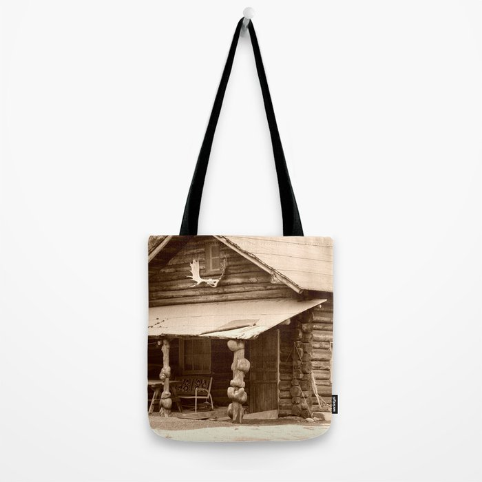 Old Log Cabin Tote Bag