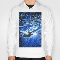 grateful dead Hoodies featuring Jerry Garcia Blues Acrylic Painting Grateful Dead by Acorn