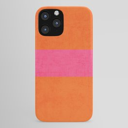 orange and hot pink classic iPhone Case