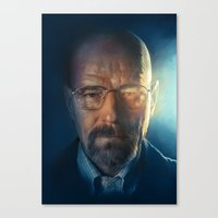 walter white Canvas Prints featuring Walter White by turksworks