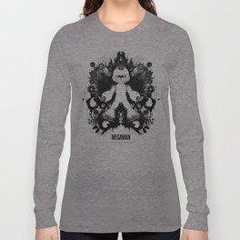 Megaman Geek Ink Blot Test Long Sleeve T-shirt