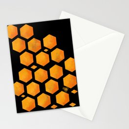 Bee in a Honeycomb Stationery Cards
