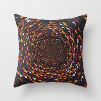 abyss Throw Pillows featuring Abyss by Daisho