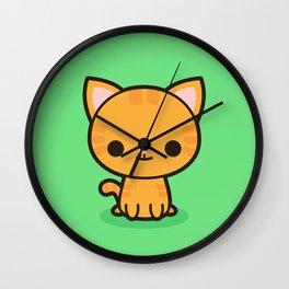 Kawaii Kitty 2 Wall Clock