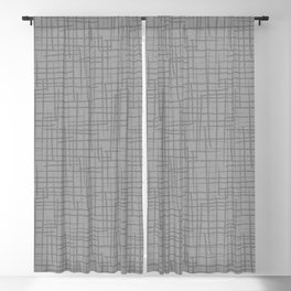 Grunge Basket Weave Line Pattern Pantone 2021 Color Of The Year Ultimate Gray Blackout Curtain