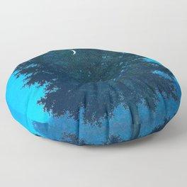 Rene Magritte - Le Seize Septembre - 1956 Moon Through Tree Surrealism Floor Pillow