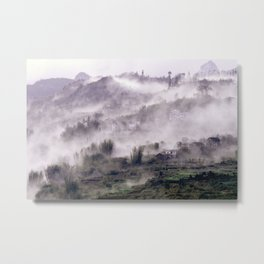FOGGY FOREST in the VIETNAMESE MOUNTAIN Metal Print