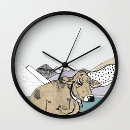 Don't have a cow man Wall Clock