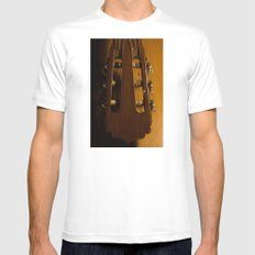 guitar i White MEDIUM Mens Fitted Tee