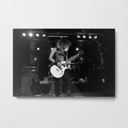 Fist Fight in the Parking Lot Metal Print