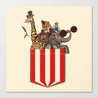 pocket Canvas Prints featuring Pocket Circus by Sachpica