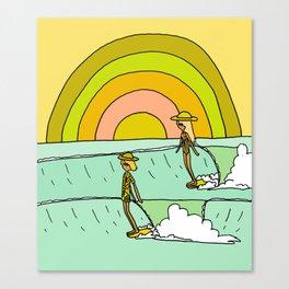 follow the light rainbow sunrise daydream hang 10 Canvas Print