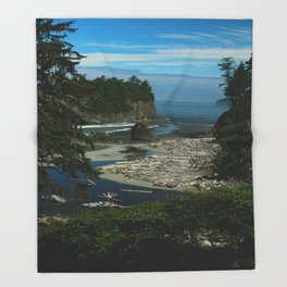 Morning At The Seaside Throw Blanket