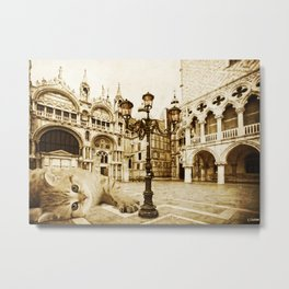 Giant Kitten in Venice (2) Metal Print