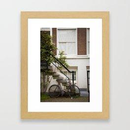 Bike_in_Ams Framed Art Print