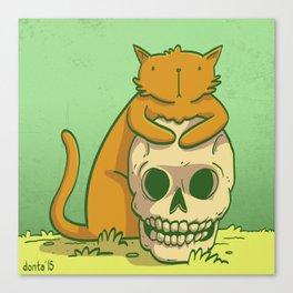 Kitty Hugs Canvas Print