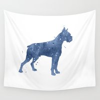 boxer Wall Tapestries featuring Boxer by Carma Zoe