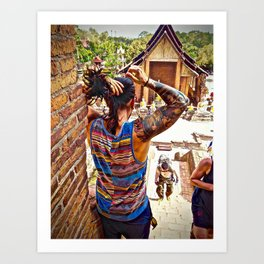 Ancient Buddhist Temple Art Print