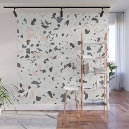 Multi-Colored Terrazzo Pattern - Pink, Brown, Cream, Gray Wall Mural