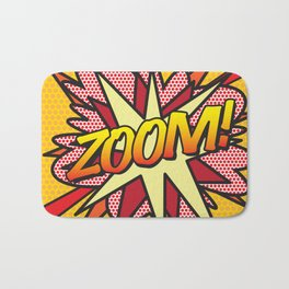 Comic Book ZOOM! Bath Mat