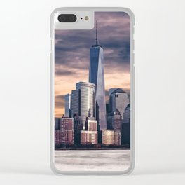 Dramatic City Skyline - NYC Clear iPhone Case