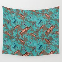chameleon Wall Tapestries featuring Chameleon by Baby Rozen Design