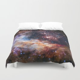 Westerlund 2 - Hubble's 25th Anniversary Duvet Cover