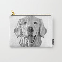 Golden Retriever PNG, Dog Print, Print for T shirt, Golden Retriever Gift, Subway Art, Golden Retrie Carry-All Pouch