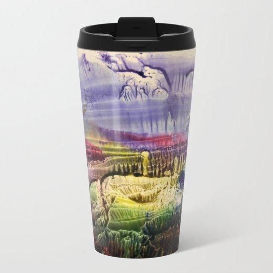 abstract composition 3 Metal Travel Mug