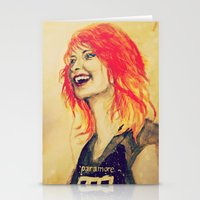 hayley williams Stationery Cards featuring Hayley Williams by Mary Agoncillo