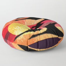 Sunset Migration Floor Pillow