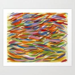 Colour Daubs Art Print