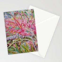 Pink Grevillea Stationery Cards
