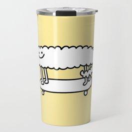 Skater Sheep Travel Mug