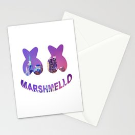 Marshmello in the city Stationery Cards