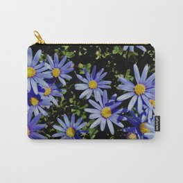 Sunbathing Blue Daisies Carry-All Pouch