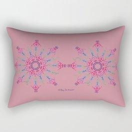 Breathe In & Out Mandala x 2 - Pink Rectangular Pillow