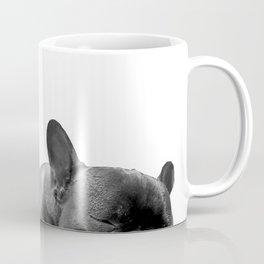 sleeping frenchies b&w Coffee Mug