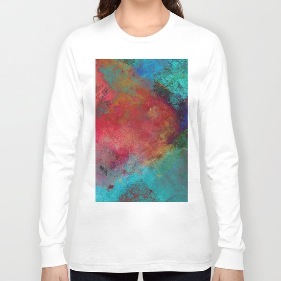 Love - Abstract, textured painting Long Sleeve T-shirt