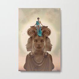 On the throne Metal Print