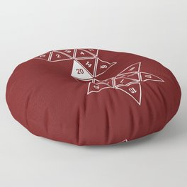 Red Unrolled D20 Floor Pillow