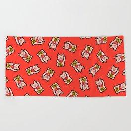 Lucky Pig Pattern Beach Towel